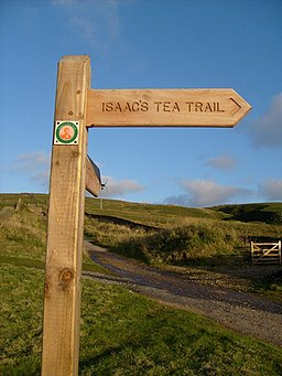 Isaac's Tea Trail sign - geograph.org.uk - 1101392