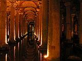 Intérieur de la basilique-citerne
