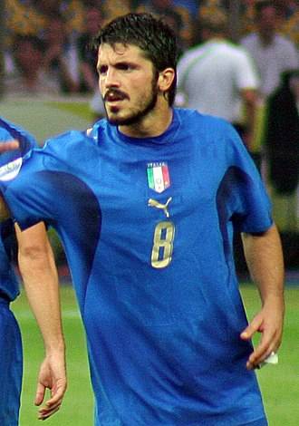Gennaro Gattuso - Gattuso playing for Italy in the 2006 FIFA World Cup Final