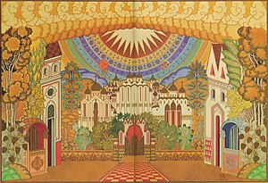 The Legend of the Invisible City of Kitezh and the Maiden Fevroniya - Design for the Invisible City, 1909