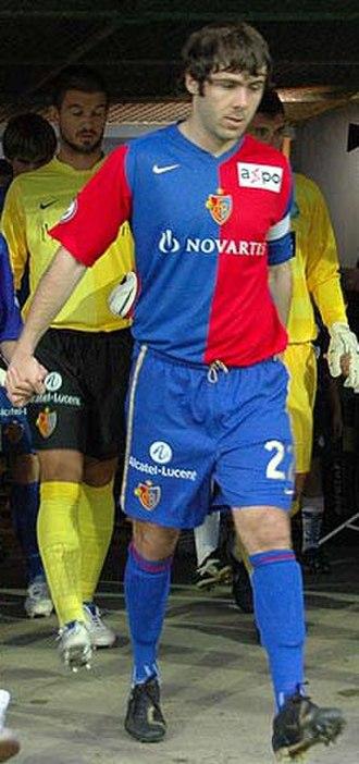 Ivan Ergić - Ergić captaining Basel in 2007