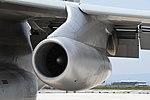JASDF C-1FTB(28-1001) Pratt & Whitney JT8D-9 turbofan engine nacelle left front view at Miho Air Base May 27, 2018.jpg