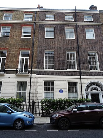Edwin Lutyens - 13 Mansfield St, Marylebone, Lutyen's London home from 1919 to his death in 1944