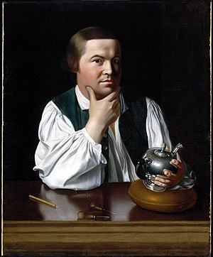 Gather (sewing) - Paul Revere in a shirt gathered at shoulder and cuffs, 1776.