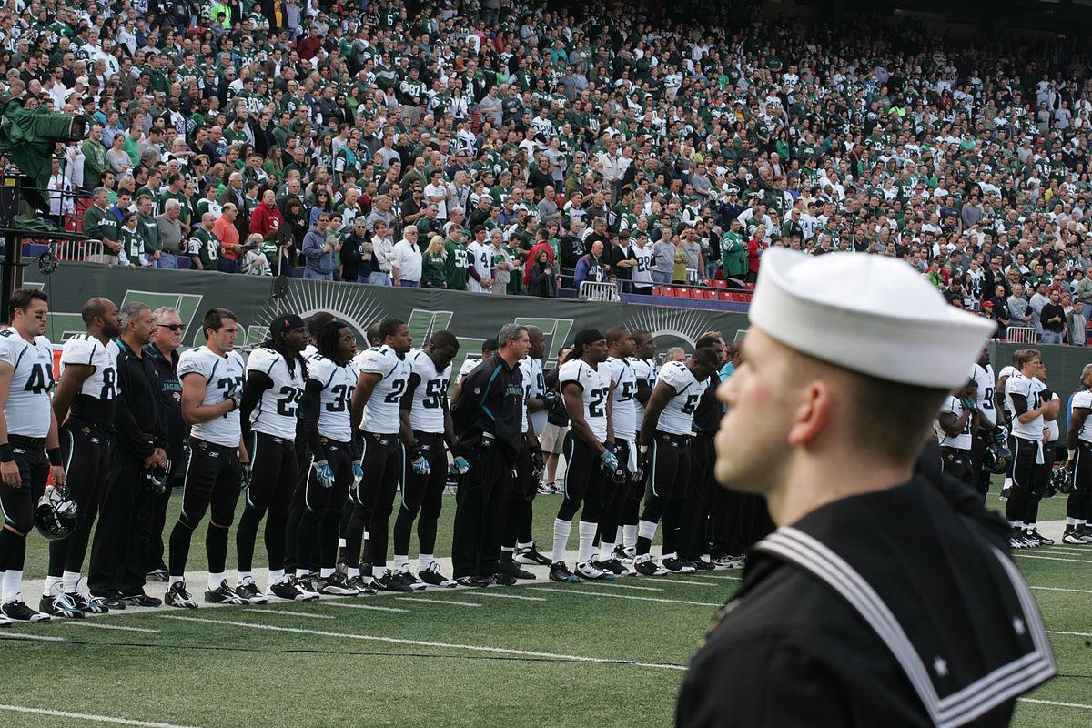 Px Jacksonville Jaguars Players In Pregame Military Ceremony C