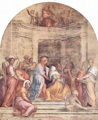 Pontormo - Visitation, 1514-16; Fresco; 392 x 337 cm; SS. Annunziata, Florence