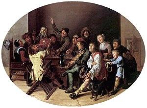 Battle Between Carnival and Lent - The King Drinks, c. 1635, Liechtenstein Collection