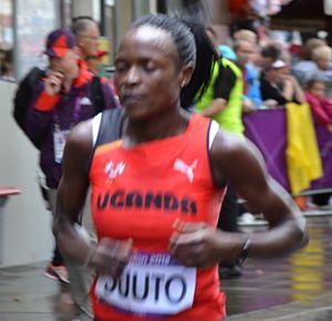 Uganda at the 2012 Summer Olympics - Jane Suuto competing in the women's marathon.