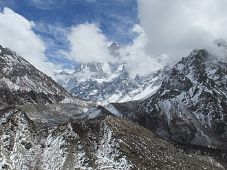 Kumbhakarna Mountain - Jannu west-face from Kambachen