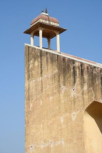 Jantar Mantar, Jaipur - Observation deck of the vrihat samrat yantra (the world's largest sundial).