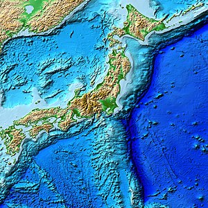 Geology of Japan - Image: Japan Trench