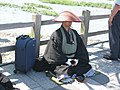 Japanese buddhist monk by Arashiyama.JPG