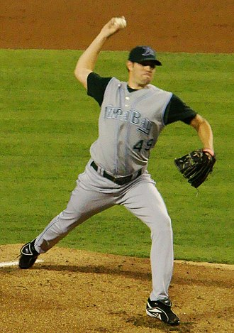 Jason Hammel - Hammel pitching for the Tampa Bay Devil Rays in 2007
