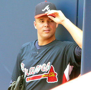 Javier Vázquez - Vázquez with the Braves in 2009
