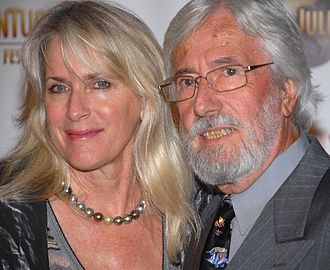 Jean-Michel Cousteau - Cousteau (right) with partner Nancy Marr, December 2007