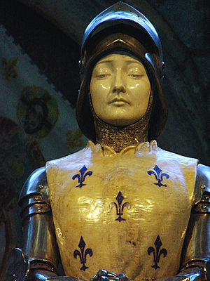 Statue de Jeanne d'Arc, cathédrale de Reims, P...