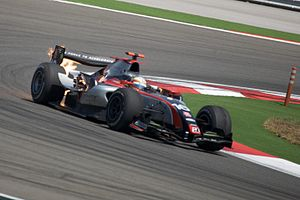 DAMS - Jérôme d'Ambrosio driving for DAMS at the Turkish round of the 2009 GP2 Series season.