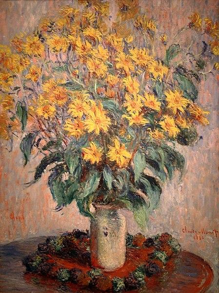 Fichier:Jerusalem Artichoke Flowers by Claude Monet (4991625001).jpg