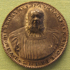 Joachim Deschler - Medal of Hieronymus Baumgartner (1553), a major figure in the Nuremberg Reformation. It is notable for not being a profile.
