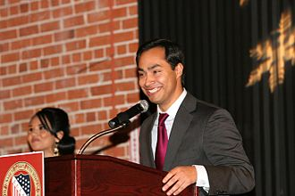 Joaquin Castro - Representative Castro preparing to deliver a keynote speech at LULAC.