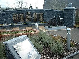 Joey Dunlop - Memorial in Ballymoney, Northern Ireland