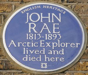 John Rae (explorer) - Blue plaque, 4 Lower Addison Gardens, Holland Park, London