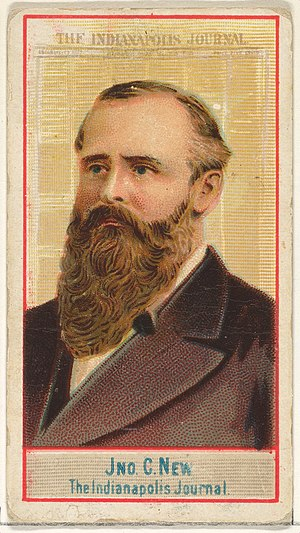 John C. New - Image: John C. New, The Indianapolis Journal, from the American Editors series (N1) for Allen & Ginter Cigarettes Brands MET DP827853