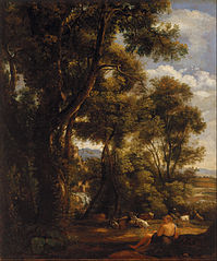 Landscape with goatherd and goats (after Claude)