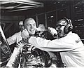 John Glenn and Guenter Wendt after scrub of Mercury-Atlas 6 launch.jpg