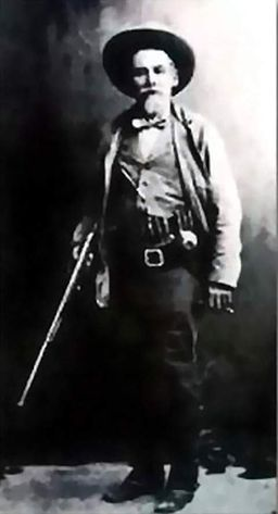 John Horton Slaughter with shotgun