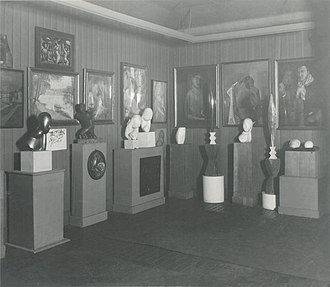 John Quinn (collector) - Photograph of works in a Quinn estate auction, New York, 1927