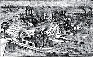 Joliet Iron and Steel Works - Image: Joliet Iron & Steel 1870s