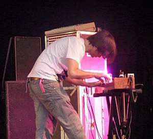 Kid A - Jonny Greenwood playing the ondes Martenot (pictured in 2010).