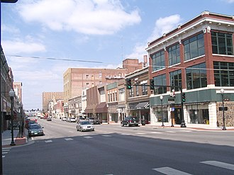 Joplin, Missouri - Historic district at 6th and Main, looking north, 2010