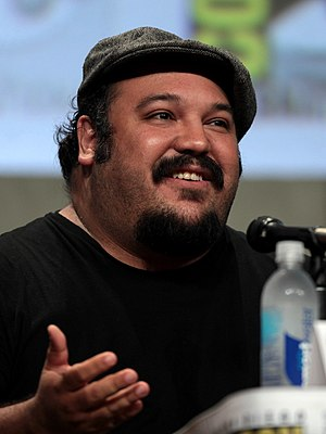 The Book of Life (2014 film) - Jorge Gutierrez at a panel for the film at San Diego Comic-Con International in July 2014