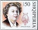 Jorgjia Filçe-Truja 2004 stamp of Albania.jpg