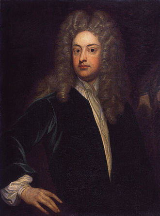 Holland House - Joseph Addison, portrait circa 1703–1712 by Godfrey Kneller, the master of Holland House from 1716 to his death in 1719, having married the widow of the 6th Earl of Warwick