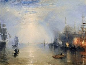 Keelmen - Joseph Mallord William Turner´s, 'Keelmen Heaving in Coals by Night', 1835