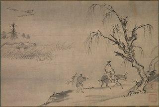 Chinese Literatus in an Autumn Landscape