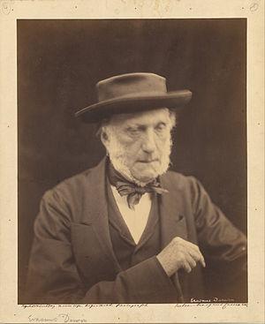 Erasmus Alvey Darwin - Portrait of Erasmus Darwin by Julia Margaret Cameron in 1868.