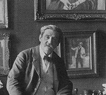 In seinem Atelier, Matthäikirchstr.4, Berlin, ca. 1905 (Quelle: Wikimedia)