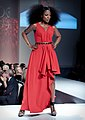 Jully Black wears a red gown by Lauren Bagliore – Heart and Stroke Foundation - The Heart Truth celebrity fashion show - Red Dress - Red Gown - Thursday February 8, 2012 - Creative Commons (6966208913).jpg