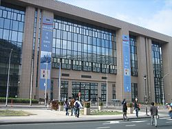 The Justus Lipsius building, the headquarters of the European Council in Brussels.