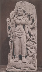 KITLV 87721 - Isidore van Kinsbergen - Sculpture of Durga from the Dijeng plateau - Before 1900.tif