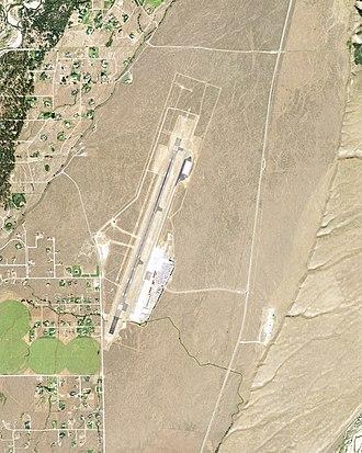 Jackson Hole Airport - Image: KJAC Aerial Photograph