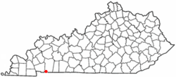 Location of LaFayette, Kentucky