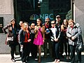 Kaitlin Monte poses with NBC New York trivia fans at Rockefeller Plaza.jpg