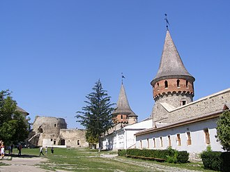 Kamianets-Podilskyi Castle - Interior courtyard and view of the castle's museum
