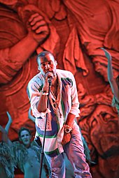 Kanye West performing at the 2011 The SWU Music & Arts Festival.