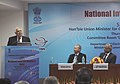Kapil Sibal addressing at the launch of the National Internet Registry (NIR) Services in India, in New Delhi on March 07, 2013. The Secretary, Electronics & IT, Shri J. Satyanarayana is also seen.jpg